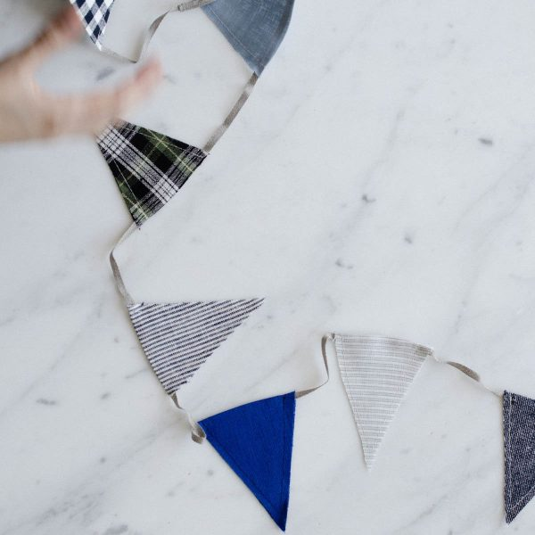 child's linen bunting