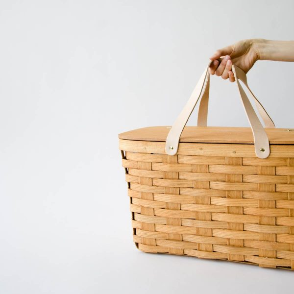 picnic basket - leather handle