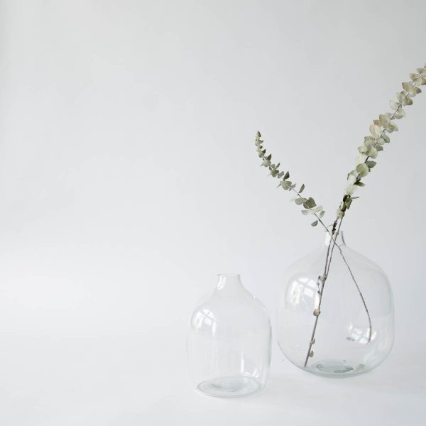 round glass vase - two sizes