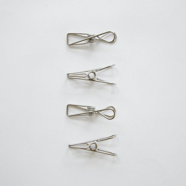 stainless steel clip - set of 4