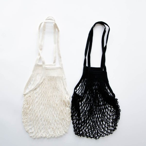 parisian cotton net bag - long handle